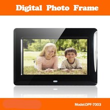7inch best selling digital photo frame built in stereo speaker