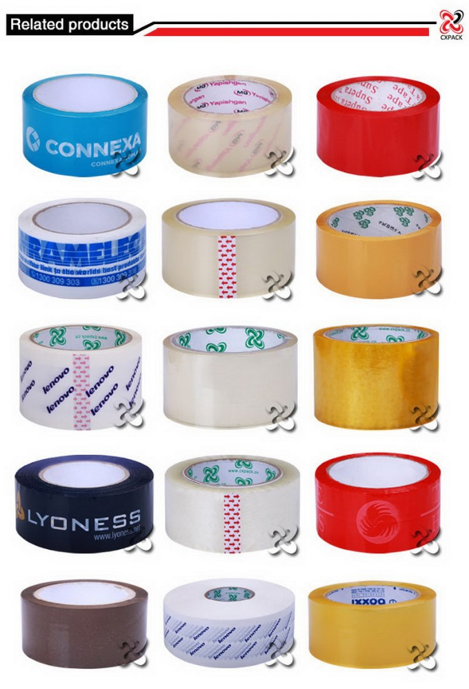 Hot melt printed tape with logo transparent adhesive tape