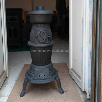 cast iron wood burning pot belly stove/ burner(JA028)