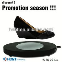 new invention ! magnetic levitating led display stand for shoe woman,navy blue wedding shoes
