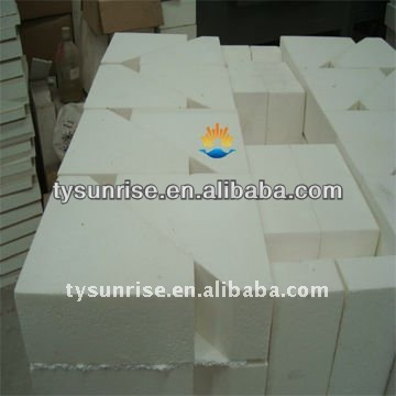 Tabular alumina bubble alumina refractory brick for glass furnace
