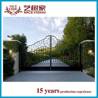 Main house wrought iron gate design factory direct sale
