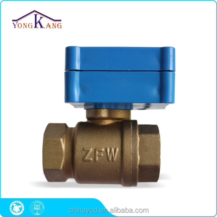 mini motorized control ball valve 2 wires control DN15 1/2 inch electric actuator 2 way ball valve