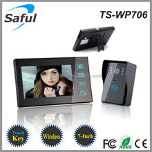 "Topsaful TS-WP706 Wireless video door phone with 7""TFT-LCD color OSD intercom wireless"