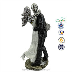 resin decoration, sliver new couple, dancer figurines