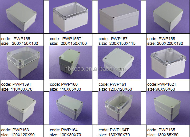 IP65 electrical instrument enclosure,outdoor watertight weatherproof box enclosure electronic plastic waterproof enclosure