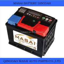 car battery export import china 12v55ah dry charged