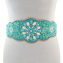 FASHION TURQUOISE BEADS STATEMENT WAIST BELLY CHAINS FOR WOMEN BOHEMIAN PARTY JEWELRY