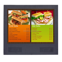 20 inch digital signage monitor, 1600*900 led backlight lcd advertising display
