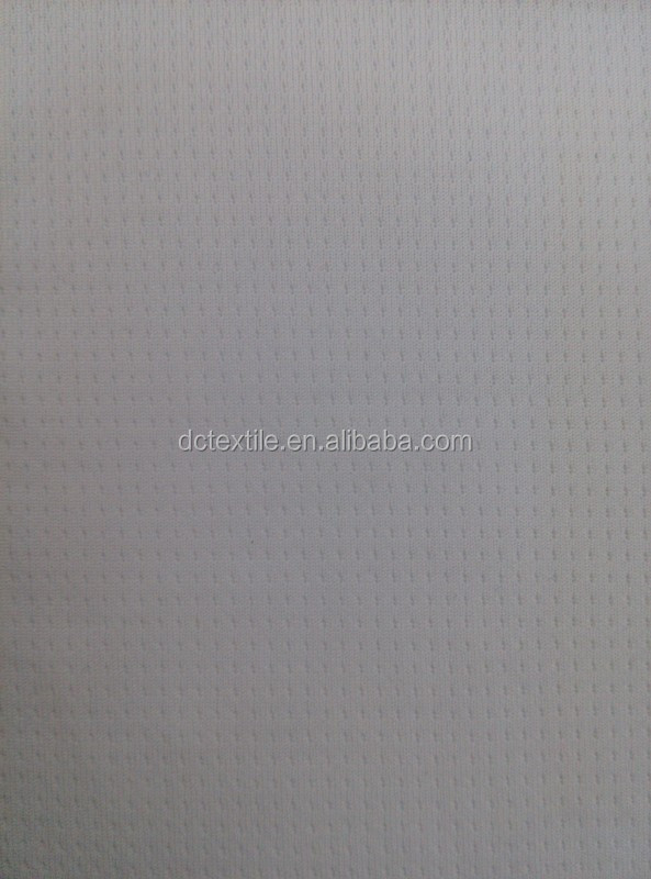 weft knitted polyester spandex raindrops mesh fabric for garment