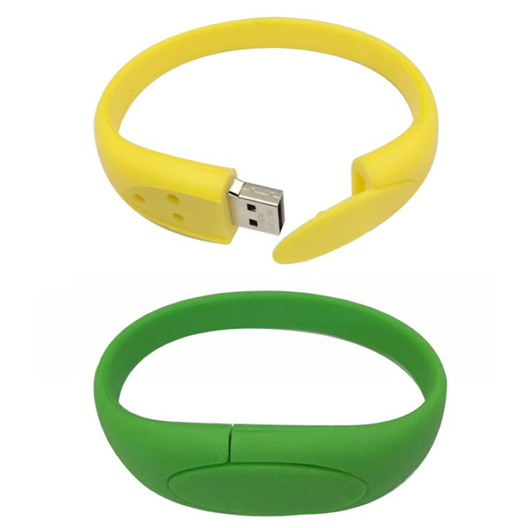 11 year's factory Colorful bracelet style usb flash pen drive