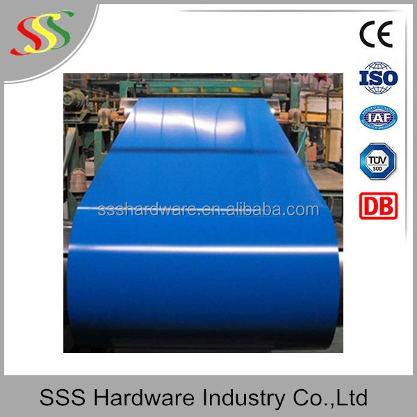 RAL5020 ocean blue color prepainted steel coils