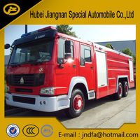 10 Wheels 6*4 6*6 6x4 6x6HOWO water foam tender fire tank wagon fire-extinguishing water tanker fire fight truck price for sale