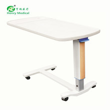 Fashion Patient Abs Adjustable Over Bed Table hospital bedside dining tray table