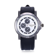 Wholesale Buckle Black & White Rubber Men Fashion & Casual Water Resistant Analog Quartz Watches