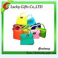 Mini Bulk Lady Fashion Cosmetic Key Coin Silicone Tote Hand Bag