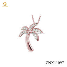 China factory direct sale 925 sterling silver palm tree pendant necklace fashion jewelry
