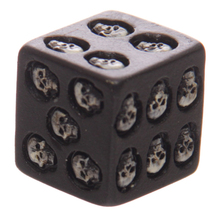 Gadget Nemesis Black Skull Dice Grinning Skull Deluxe Devil Poker Dice Gothic Style Gambling Dice with Death