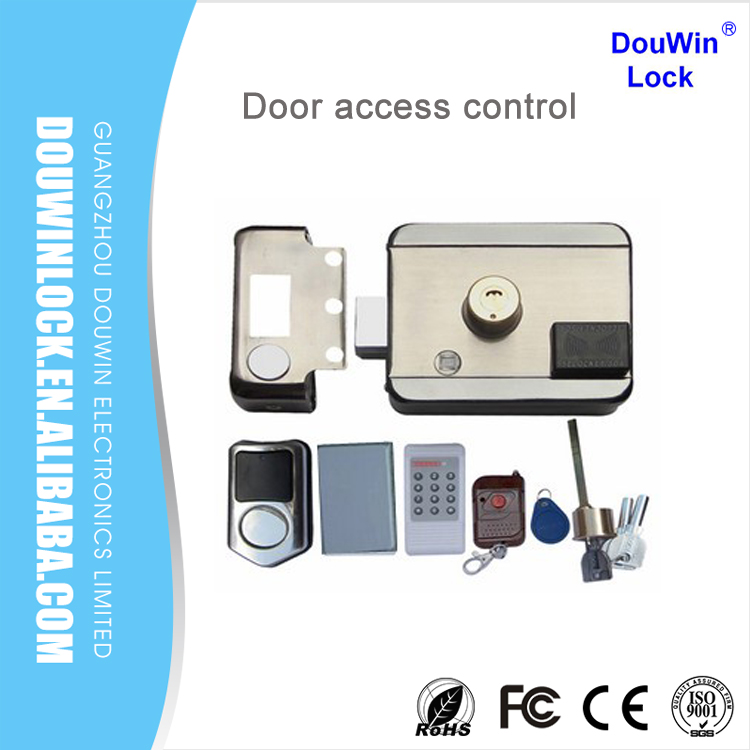Remote control gate entry door access lock