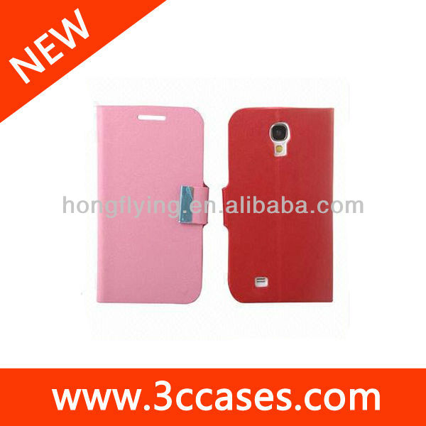PU Leather Cases for Samsung S4 with Standing Function, Customized Colors, Packing Ways Welcomed