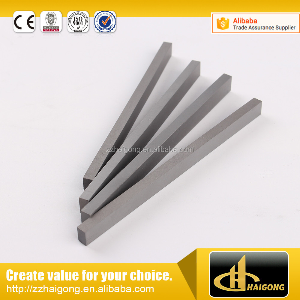 K10 widia tungsten carbide strip blades for powder grinding machinery wear parts