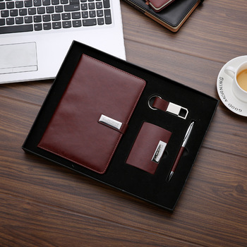 Leather Notebook Pen Keychain and Business Card case Holder Luxury Corporate  Luxury Gift Set for Clients