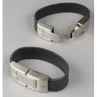 Black Leather Wristband USB Flash Memory Drive 32GB,usb stick mini speaker