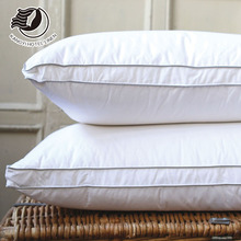Wholesale 48*74cm Pure White Shell High Quality Filling Feather Pillow For Hotel / Resort