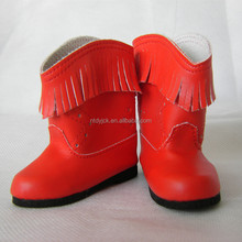 Fashion plastic patterns doll boot shoes