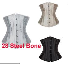 2016 outdoor private lable oem packing cotton 24 steel bone waist trainer