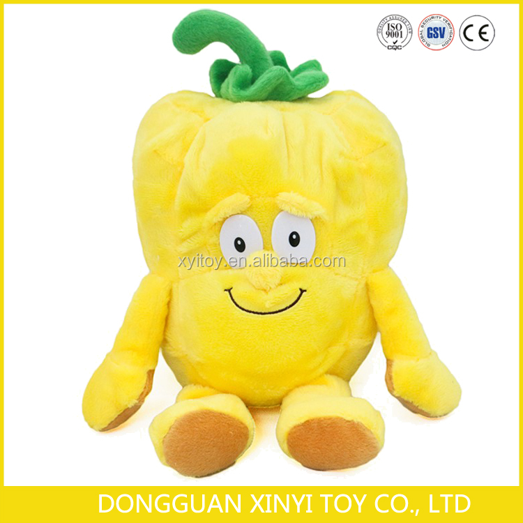 OEM custom made funny stuffed fruit and vegetables plush toys