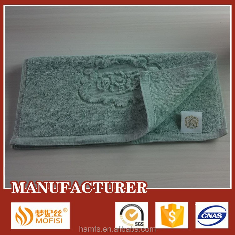 100% cotton customised embossed facial towel