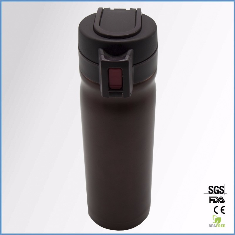 Stainless steel vacuum flask, insulated bottle, bullet mouth vacuum flask