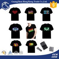 China manufacturer hip hop men short sleeve free custom led t-shirt
