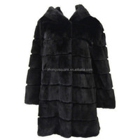 China fur supplier wholesale lady fur clothing mink fur coat hooded