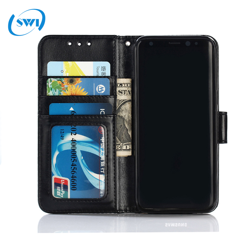 For Samsung Galaxy S8 Magnetic Flip Pu Leather Wallet Case With Photo Frame Card Holder Stand Mobile Phone Cover