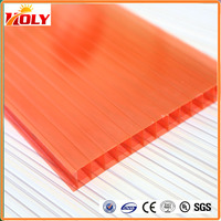 cheap plastic roofing sheet polycarbonate hollow sheet used for lowes sunrooms