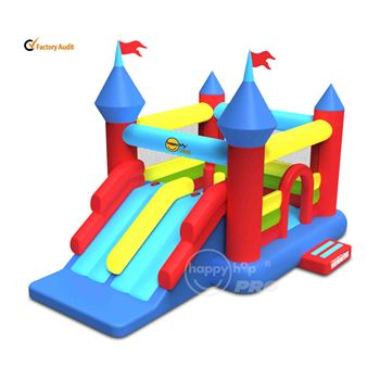 Happy Hop Pro New design 1205--Super Castle Bouncer with Double Slide