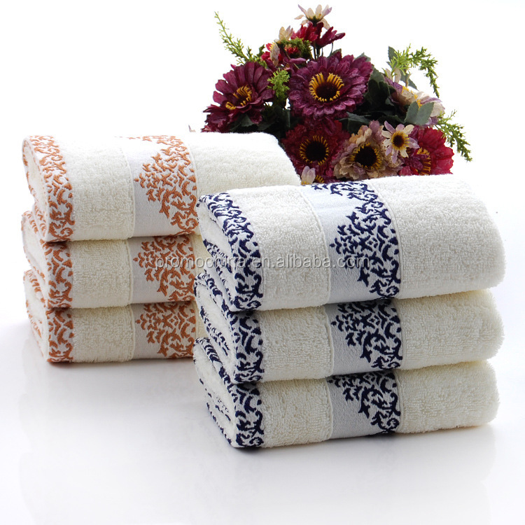 High Quality Custom Embroidered Gift Handmade Face Towels Luxury Gift Towels