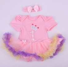 2015 children Chrismas clothings baby summer tutu romper and headbands sets