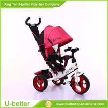 2017 Ride on cars Kids Metal Tricycle With Push Bar 4 in 1 Baby Tricycle Price car toys/ Three Tricycle for Children