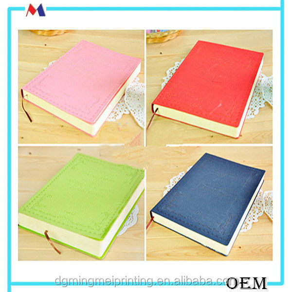 Hot selling craft spiral notebooks / leather cover paper note books with low price