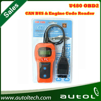 U480 CAN OBDII OBD2 EOBD Scan Engine Fault Tool Code Reader Auto Car Diagnostic Scanner