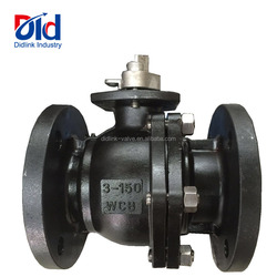 Stockist Flanged Dimension 3 Inch Carbon Steel WCB Manual Type Ball Valve Manufacturer
