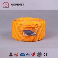 Ropenet:PE rope /3 strand twisted pp rope/plastic rope