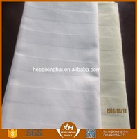 CVC 50/50 Cotton 40*40 133*100 China manufacturer Satin stripe plain white hotel bedding set bedding fabric