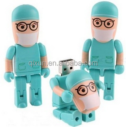 doctor shape cartoon character usb flash drive bulk cheap, usb flash drive for kids