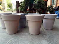 Decorative round painted flower pots for indoor plants
