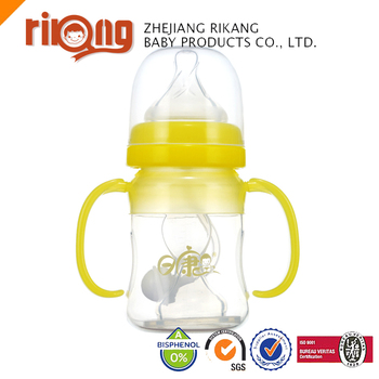 6OZ/170ml Wide Neck Silicon Multi-Feeding Bottle with Handle