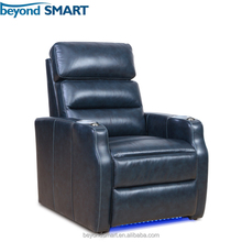2-arm power recliner one seat sofa chair with led base lighting